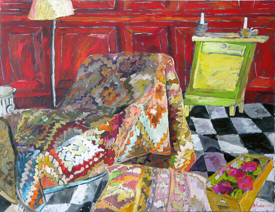 under the rug | oil on canvas 36x48 in.