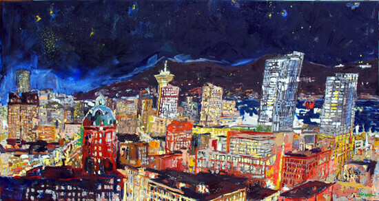 Vancouver | oil on canvas 38x72 in.